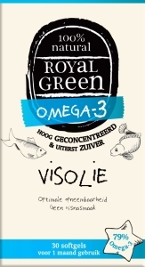 Royal Green Omega 3 visolie, 30 softgels