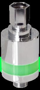 LED shower indicator, timer met licht