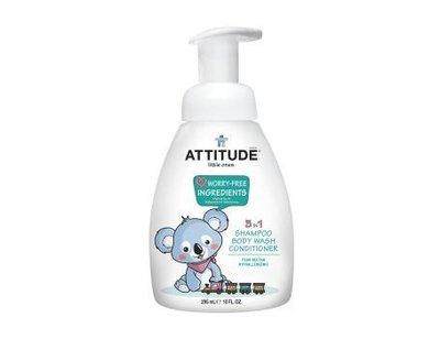 Attitude, 3 in 1 shampoo conditioner body wash,  Pear-Nectar