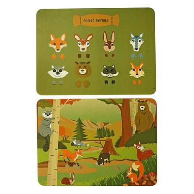 The Zoo Placemat Forest Animals mix set 2 stuks